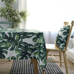Pastoral Green Plants Tablecloth Cotton Blend Table Cloth Ho
