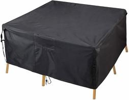Patio Table Cover, Rectangular Furniture Set Cover Outdoor S