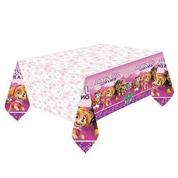 Paw Patrol Pink Plastic table Cover by AMSCAN 1.37 x 2.43m