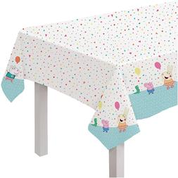 Peppa Pig Confetti Party Plastic Table Cover ~ Birthday Deco