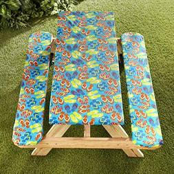 Picnic Table and Bench Seat Covers with Elastic Edges - Flip