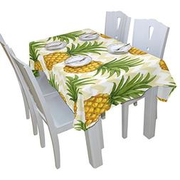 BAIHUISHOP Pineapple Floral Print Tablecloth Rectangular Pol