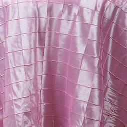 - BalsaCircle 270cm Pink Round Pintuck Taffeta Tablecloth T