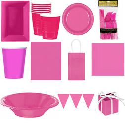 Pink Partyware Girls Kids Cute Table Decorations Cutlery Buf