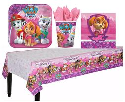 pink paw patrol girl tableware birthday party