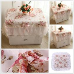 pink romantic dating tablecloth lace embroidered bedside
