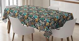 Pirates Tablecloth Ambesonne 3 Sizes Rectangular Table Cover