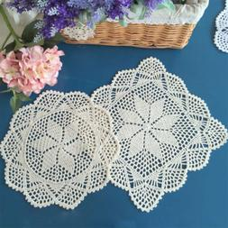 Placemat Vintage Crochet Cotton Lace Table Place Mats Cover