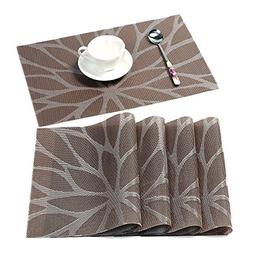 HEBE Placemats for Dining Table Washable Placemat Set of 4 H