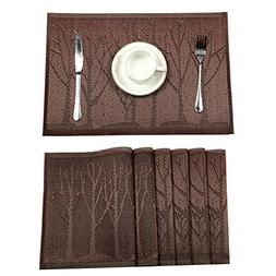 HEBE Placemats, Placemats for Dining Table Set of 6 Crosswea