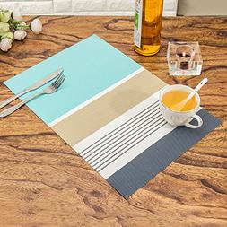 HEBE Placemats Set of 4 Washable Placemats for Kitchen Dinin