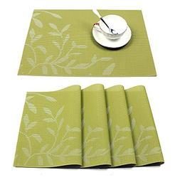 HEBE Placemats Set of 4, Washable Placemats for Dining Table