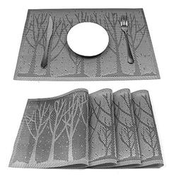 HEBE Placemats for Dining Table Set of 4 Durable Crossweave