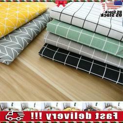 Plaid Cotton Linen Tablecloth Tea Cloth Dining Kitchen Table
