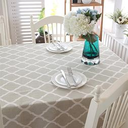 Byetee Plaid Printed Decorative <font><b>Table</b></font> Cl
