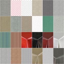 Plain Textured PVC Vinyl Oilcloth Wipe clean Tablecloth Tabl