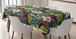 Plant Tablecloth Ambesonne 3 Sizes Rectangular Table Cover D