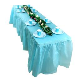 Plastic Disposable Solid Color Tablecloth <font><b>Table</b>