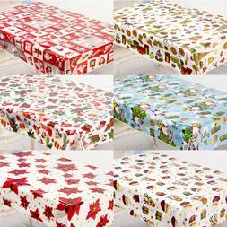 Plastic Disposable Table Cover Cloth Christmas Wedding Home