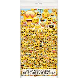 "Plastic Emoji Table Cover, 84"" x 54"