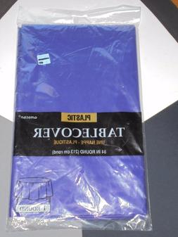 """Amscan Plastic Purple Table Cover Party Decor NEW 84"""" Round"""