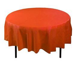 Exquisite 12-Pack Premium Plastic 84-Inch Round Tablecloth,