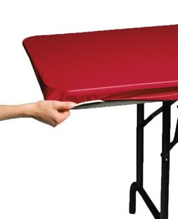 Creative Converting Plastic Stay Put Banquet Table Cover, 29