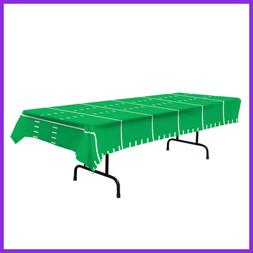 Plastic Table Cover Football Field Party Buffet Game Day Tab