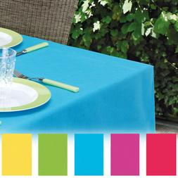 Plastic Table Cover Wipe Clean Party Square Tablecloth Reusa