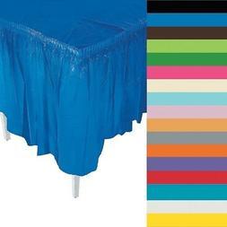 "Plastic Table Skirt 29"" x 14' Rectangular Party"