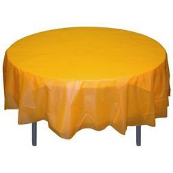 6-Pack Premium Plastic Tablecloth 84in. Round Plastic Table