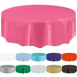 New Table Cover Party Tablecloth Round Theme Dining Wedding