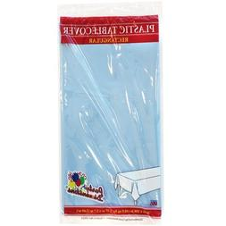 Plastic Party Tablecloths - Disposable, Rectangular Tablecov