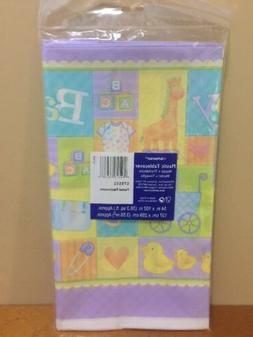 plastic tablecover pastel patchwork