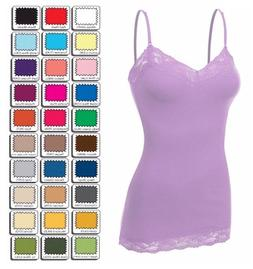 Womens Plus Size Lace Tank Top Cami Bozzolo Long Layering Ba