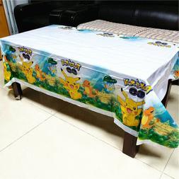 Pokemon Pikachu Birthday Party Tablecloth Favor Decoration K