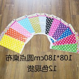 Polka Dot Plastic Table Cover Cloth Disposable Party Tablecl
