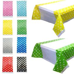 Polka Dot Tablecloths Disposable Plastic Table Cover Birthda