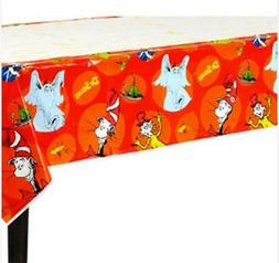 DR. SEUSS Polka Dots PLASTIC TABLE COVER ~ Birthday Party Su