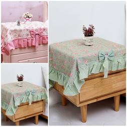 Polyester Bedside Table Cloth Cover Square Tablecloth for We