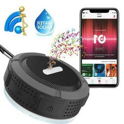 Portable Bluetooth Speaker Waterproof Aux Micro SD Card Blue