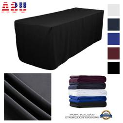 Premium Fitted Tablecloth Table Cover for Wedding Party Even