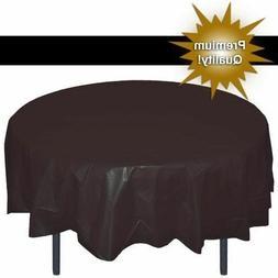 """Exquisite Premium Quality Plastic Tablecover Black 84"""" Round"""