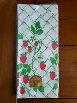 Pretty Vintage Hallmark Paper Table Cover Cloth Strawberries
