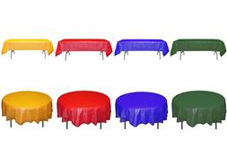 Primary Colors Plastic Table-covers Disposable Tablecloth Sc