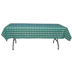 12-Pack Printed Teal Gingham Checkerboard plastic tablecloth