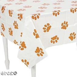 puppy party plastic tablecover tablecloth birthday dog