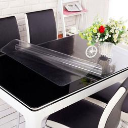 PVC Frosted Tablecloth Transparent Table Cloth Protector Cov