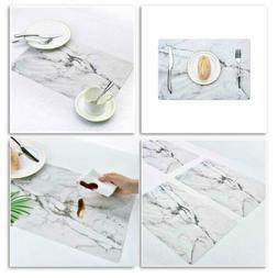 PVC Marble Soft Dinning Table Cover Protector Desk Desktop R