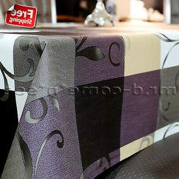 pvc rectangle tablecloth oil proof stain resistant